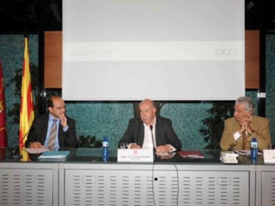 Reunió del Síndic d'Aran, Carlos Barrera, amb les associacions de muntanyencs al Museu Colet de Barcelona