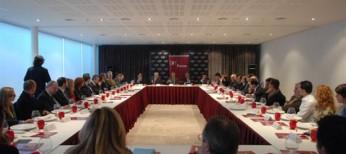 """El Diputado de Aran, Pau Perdices (CDA-PNA) asiste a la  conferencia """"Rescate sí o no y que supondrá para las empresas"""""""