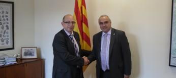 El Concejal Valdecantos,  lider de Convergéncia Aranesa en el Ayuntamiento de Bossòst se reune con el Director de Administración Local de la Generalitat de Catalunya