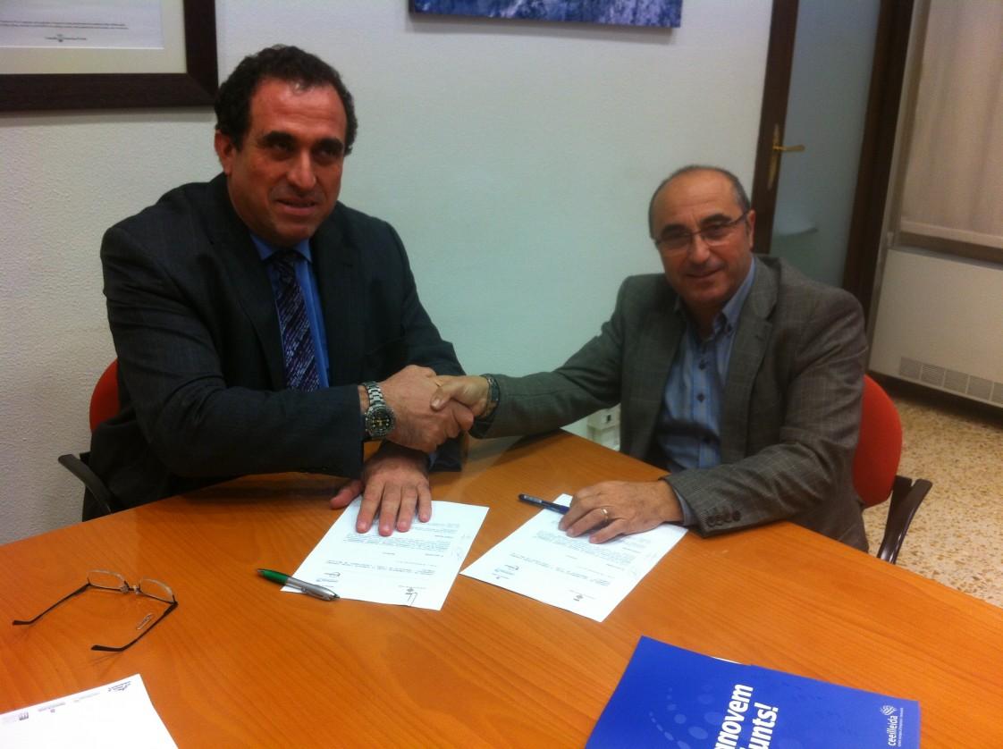 Signatura del conveni de col·laboració del CEI Bell-lloc amb el Ceeilleida